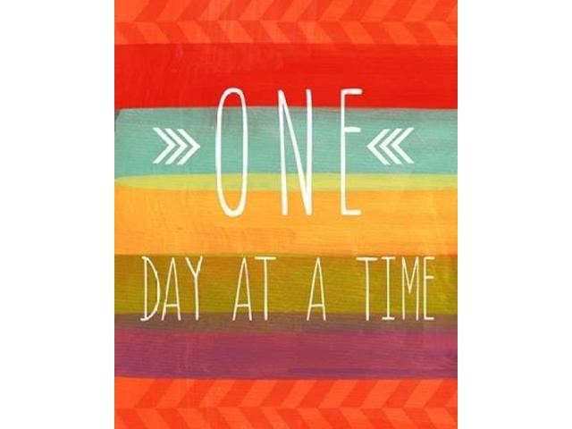 One Day Poster Print by Linda Woods (24 x 30)
