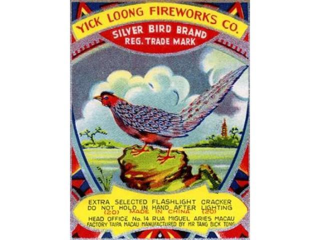 Yick Loong Silver Bird Brand Firecracker Poster Print by Unknown  (9 x 12)