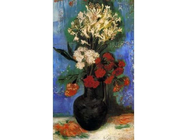 Carnations And Other Flowers Poster Print by Vincent Van Gogh (24 x 36)