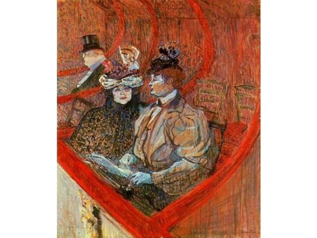 A Box At The Theater Poster Print by Henri Toulouse-Lautrec (24 x 24)