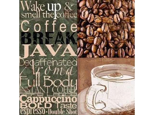 Coffee Break Poster Print by Lisa Wolk (12 x 12)