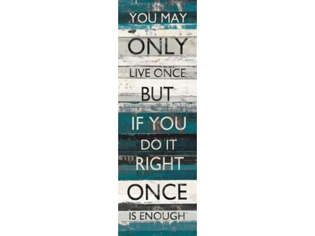Blue Zephyr Quote I Poster Print by Mike Schick (12 x 36)