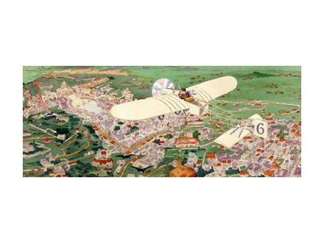 Rome to Paris by air non-stop Poster Print by  Inventions (24 x 48)