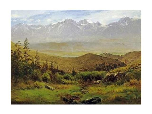 In The Foothills of The Rockies Poster Print by Albert Bierstadt (18 x 24)