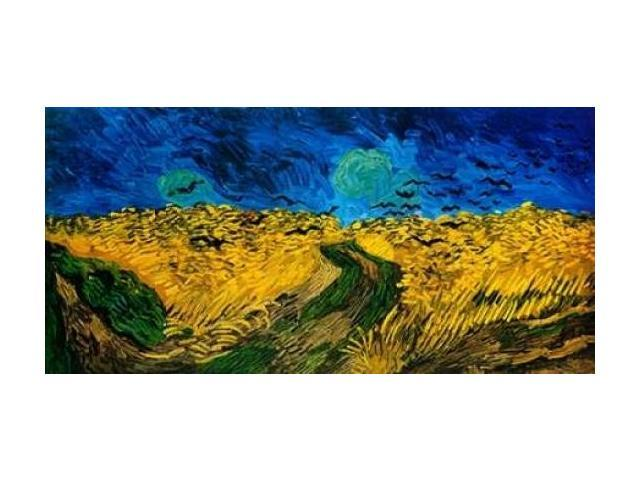 Crows Over Wheat Field Poster Print by Vincent Van Gogh (24 x 48)
