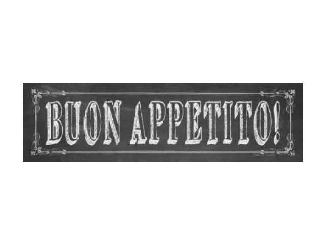 Buon Appetito Poster Print by Stephanie Marrott (12 x 36)
