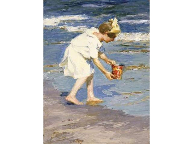 Brighton Beach Poster Print by Edward Henry Potthast (18 x 24)