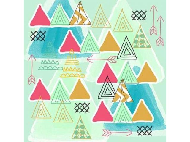 Teepees Poster Print by Linda Woods (12 x 12)