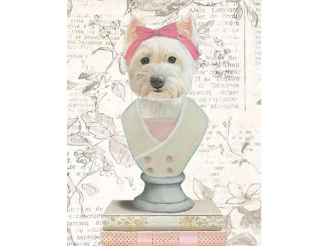 Canine Couture Newsprint II Poster Print by Emily Adams (22 x 28)