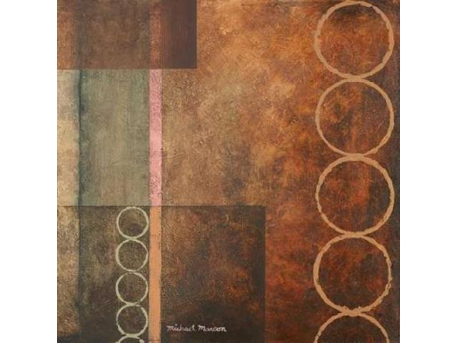 Circles in the Abstract I Poster Print by Michael Marcon (12 x 12)