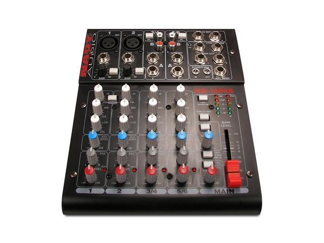 Nady MM-15USB Compact USB Mixer with up to 15 simultaneous inputs and 10 outputs 2 Mono channels with balanced Mic and Line Inputs and 2 Stereo Channels with Line and RCA Inputs