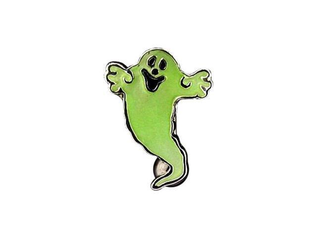 Glow-in-the-dark ghost reversed belly ring
