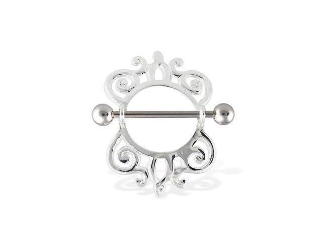 Fancy nipple ring, 14 gauge