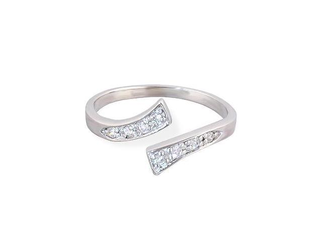 .925 sterling silver jeweled toe ring