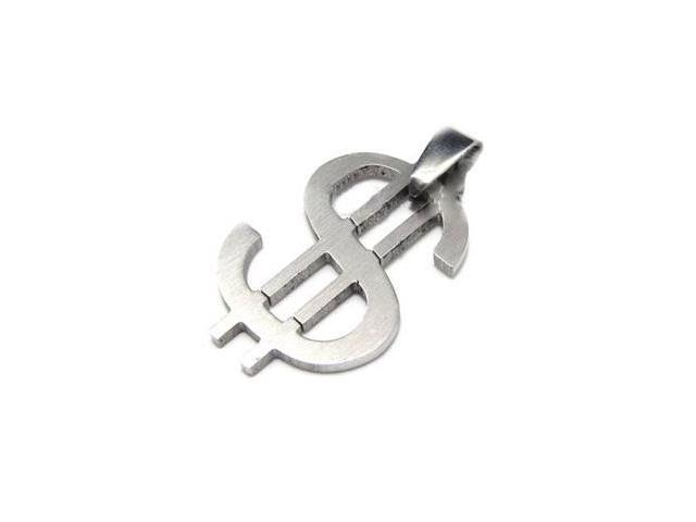 Stainless steel money sign pendant