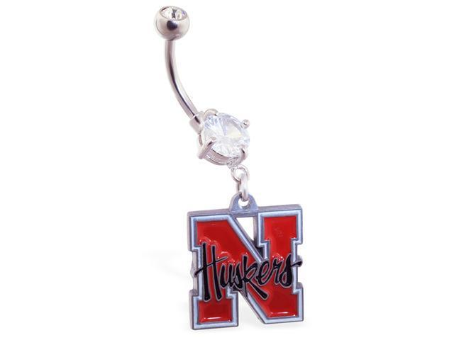 University of Nebraska Cornhuskers official licensed NCAA belly ring