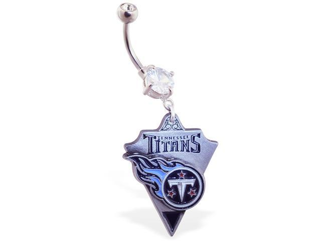 Tennessee Titans official licensed NFL football belly ring