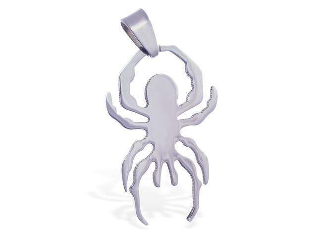 Stainless steel spider pendant