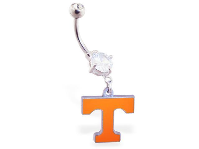University of Tennessee Volunteers official licensed NCAA belly ring