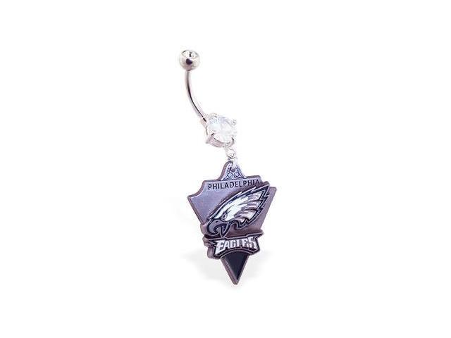 Philadelphia Eagles official licensed NFL football belly ring
