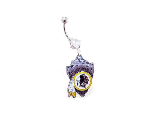 Washington Redskins official licensed NFL football belly ring