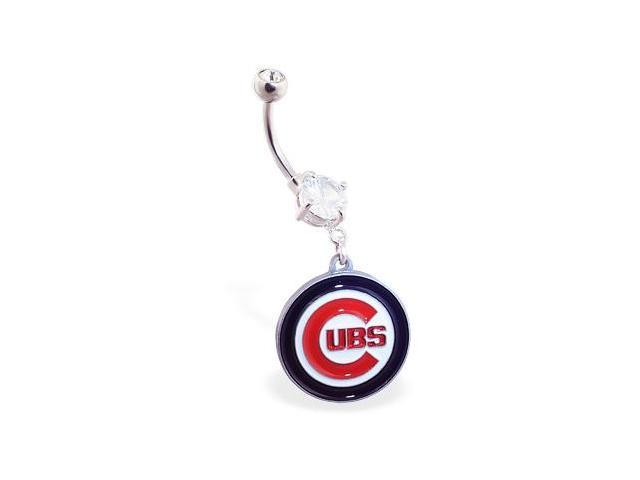 Chicago Cubs official licensed major league baseball belly ring