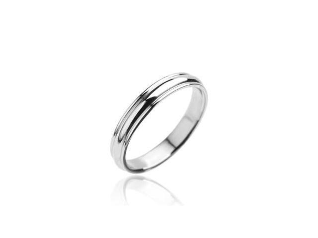 316L Stainless Steel Ring Plain Grooved Wedding Band,Ring Size - 7