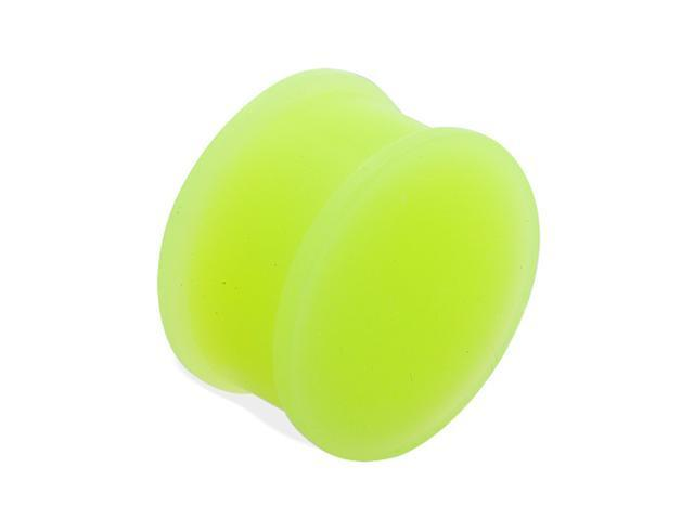 Flexible glow in the dark silicone double flared plug,Gauge:5/8