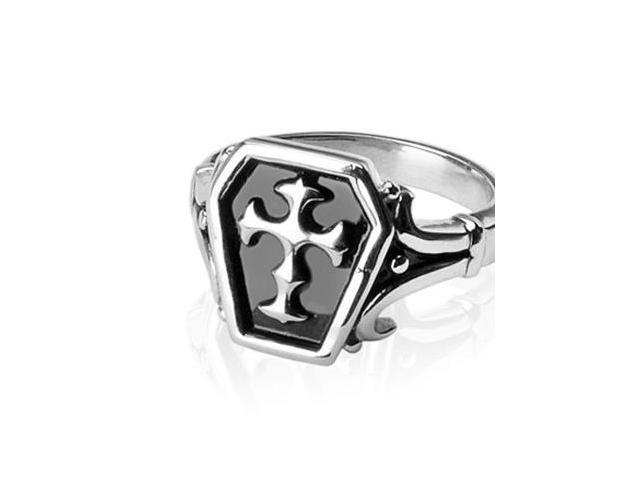 316L Surgical Stainless Steel Rings/Celtic Cross ,Ring Size - 10