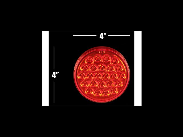 """4"""" Red LED **24 DIODE** Truck Trailer Boat RV Light STT"""