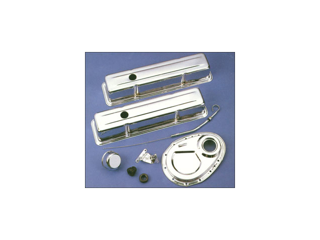 Chevy Small Block Tall Chrome Steel Engine Dress Up Kit