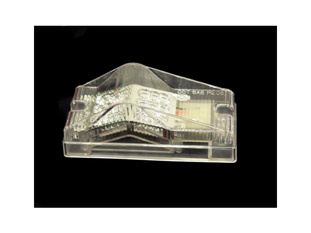 Clear Amber 18 Diodes LED Trailer Mid Turn Signal Light