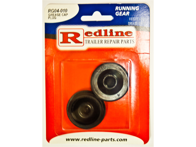 One Pair of Trailer Grease Cap Plugs Redline RG04-010