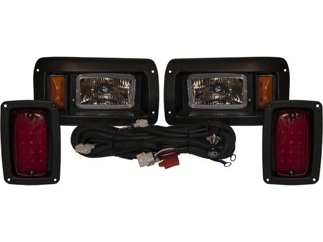 One Adjustable Club Car Golf Cart Tail Light Headlight Kit 1993 -2008