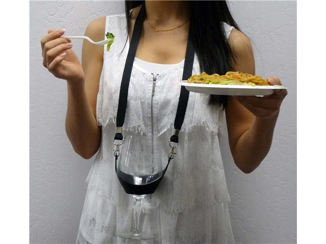 The Original Drink Sling Hands Free Wine Glass Holder with Lanyard