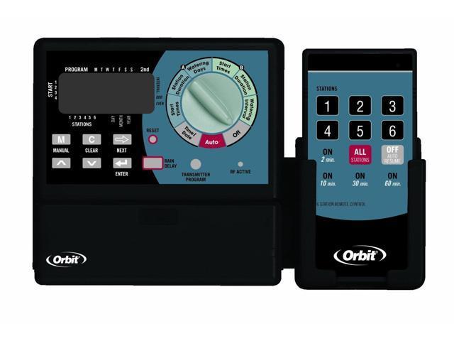 Orbit Sprinkler Timer with Remote Control - Super-6 Irrigation Controller, 91006