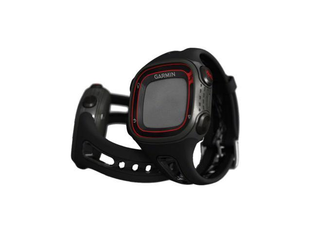 Garmin Forerunner 10 Large Face Fitness Computer: Black/Red