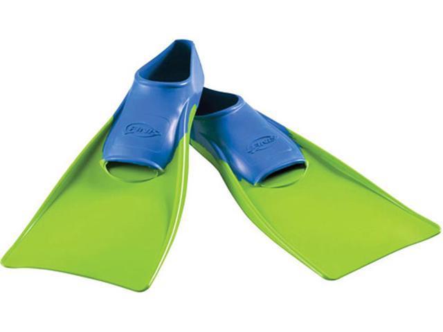 FINIS Long Floating Fins - XXXS (Jr. 8-11) - Blue/Lime Green