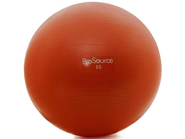 ProSource Swiss Exercise Ball with Pump - 65 cm - Red