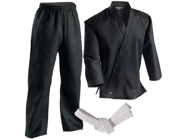 Century 7 oz. Middleweight Student Uniform with Elastic Pant - 7 - Black