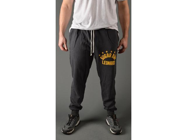 Roots of Fight Sugar Ray Leonard Slim Fit Sweatpants - Small - Black