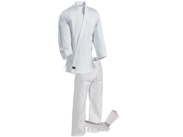 Century Kid's 6 oz. Lightweight Student Uniform with Elastic Pants - 000 - White