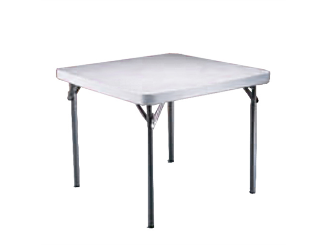 Lifetime white granite 37 inch square table with folding for 10 inch table legs