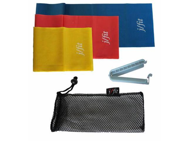 JFit 5' Exercise Bands with Clip (Set of 3)