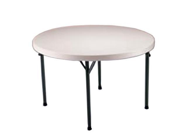 Lifetime almond 4 foot round table with folding legs for 10 foot round table