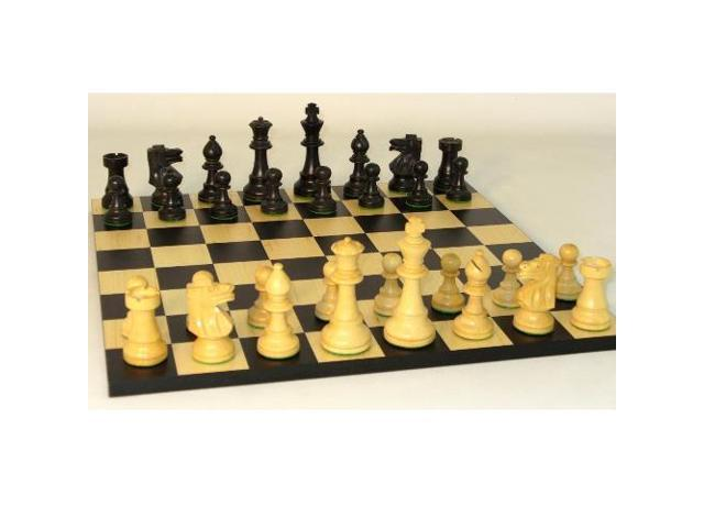 WorldWise Wooden Chess Set with Basic Black/Maple Board