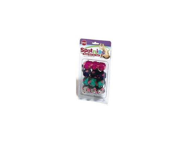 Ethical Pet Plush Mice, Assorted, 12 Pack - 2048