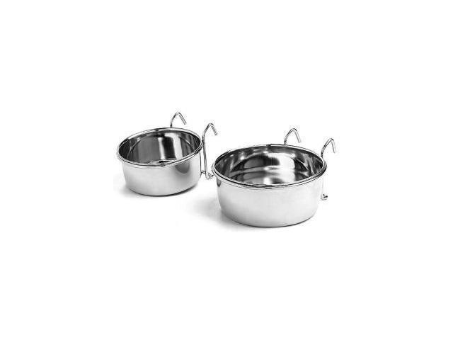 Ethical Pet Stainless Steel Bird Coop Cup, Wire, 20 Ounce - 6011