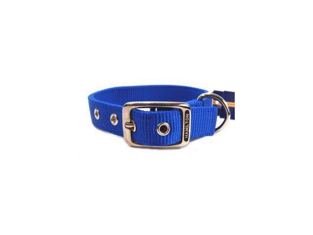 Hamilton Pet Company Double Thick Nylon Dog Collar, Blue, 1 X 26 - DD 26BL