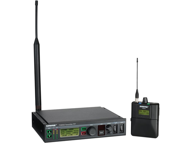 Shure P9TRA Wireless In-ear Monitoring System (G6 Band, 470-506 MHz)